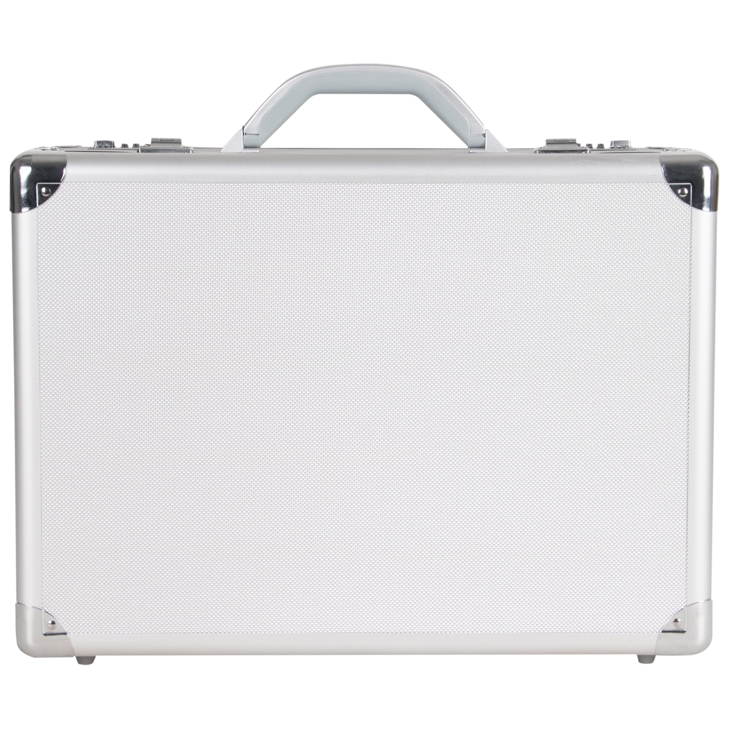 Heritage Travelware Aluminum 17'' Attaché with Combination Lock Laptop Briefcase, Silver, One Size