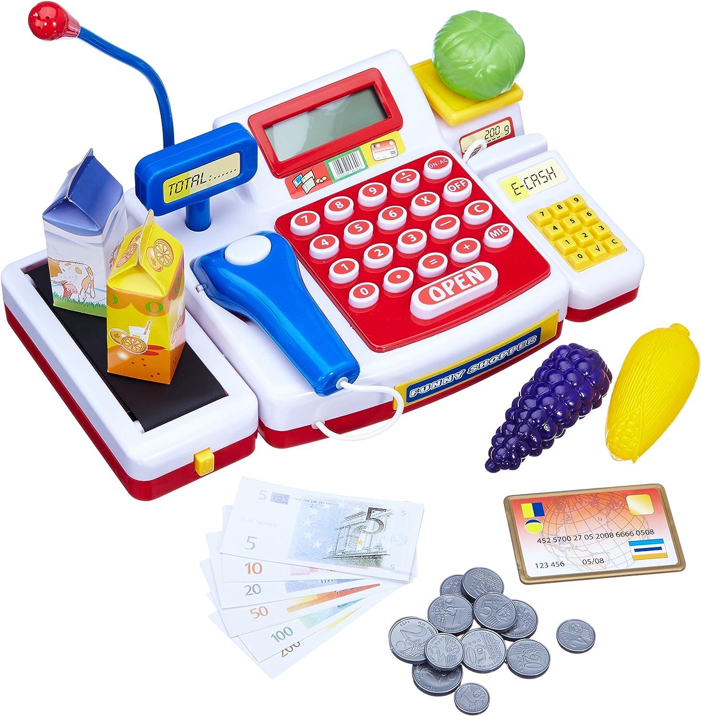 Simba Caja registradora supermercado con escáner y calculadora (18 x 16 x 38 cm) 452570