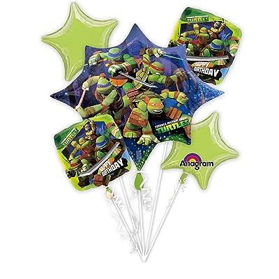 Ninja Turtle Balloon Bouquets (5 Balloons): Toys & Games