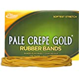 "Alliance Rubber 21405 Pale Crepe Gold Rubber Bands Size #117B, 1 lb Box Contains Approx. 300 Bands (7"" x 1/8"", Golden Crepe)"