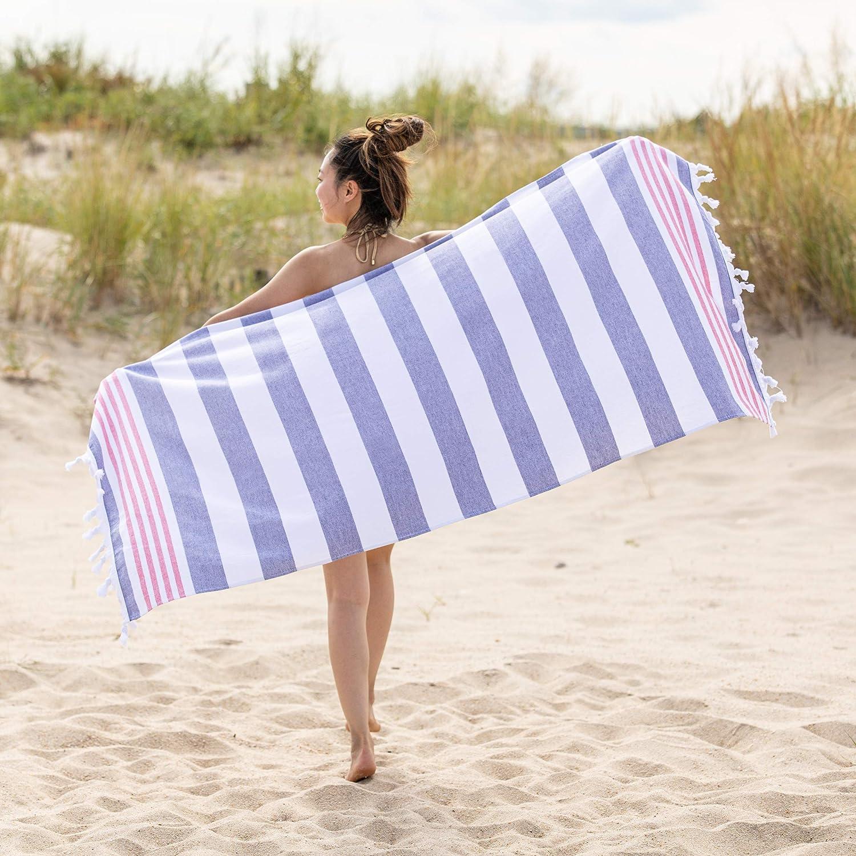 SUPERIOR Coastal Resort Oversized Beach Towel, 35x68, Baked Apple