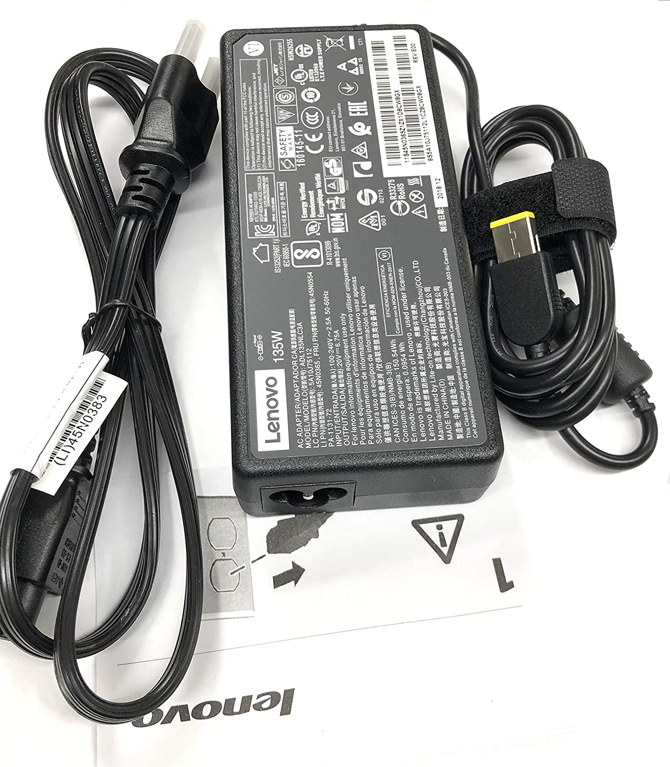 New Genuine AC Adapter For Lenovo ThinkPad T440p T540p W540 G500 135 Watt 45N0502