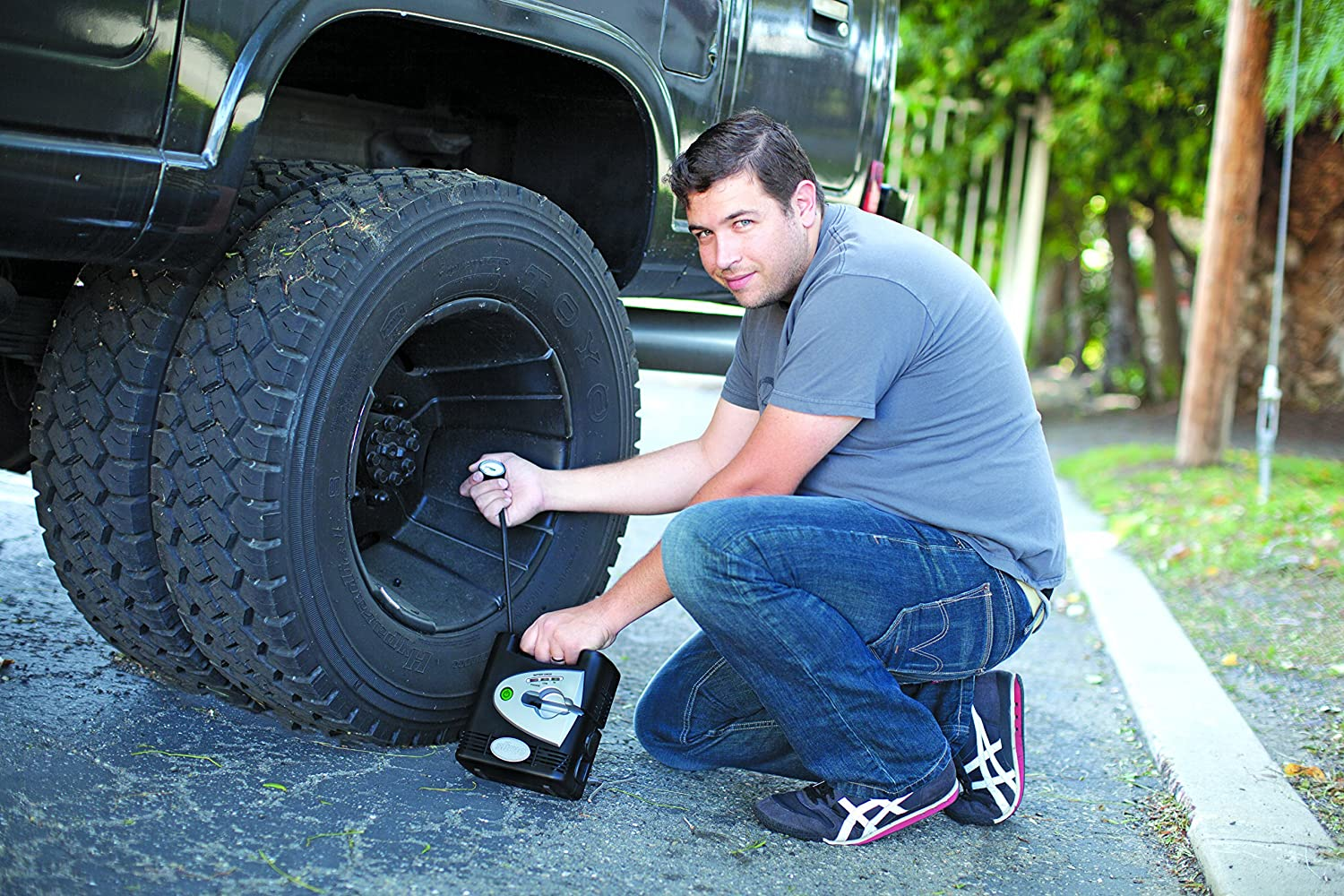 9. The Slime 40033 Rechargeable Air Compressor and 12 volt tire inflator