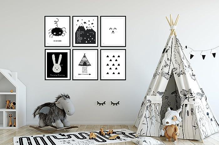Amazon Nursery Wall Art Baby Room Decor Children Art Black Cool Baby Boy Bedroom Design Ideas Minimalist