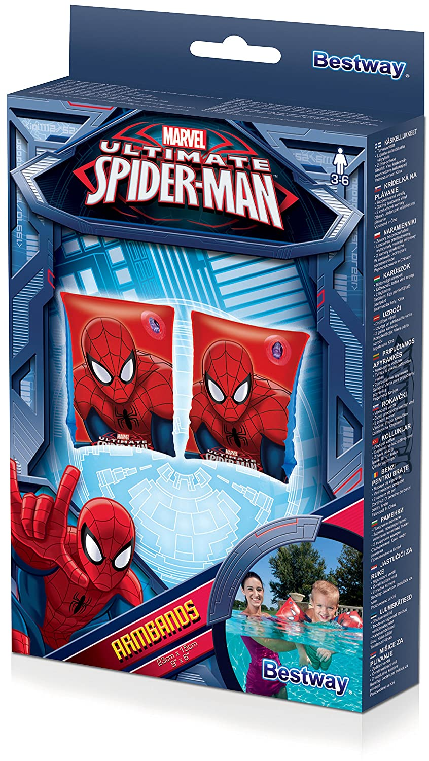Amazon.com: Childrens Marvel Ultimate Spiderman Swimming Armbands - Age 3 to 6 18 to 30KG: Toys & Games