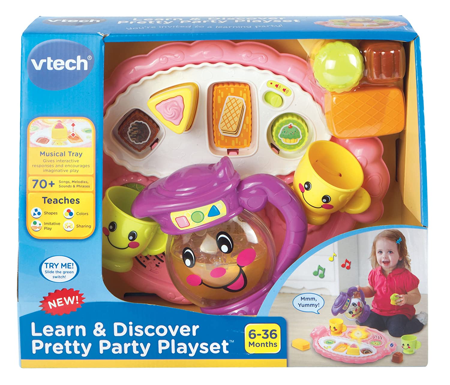 Amazon VTech Learn and Discover Pretty Party Playset Toys