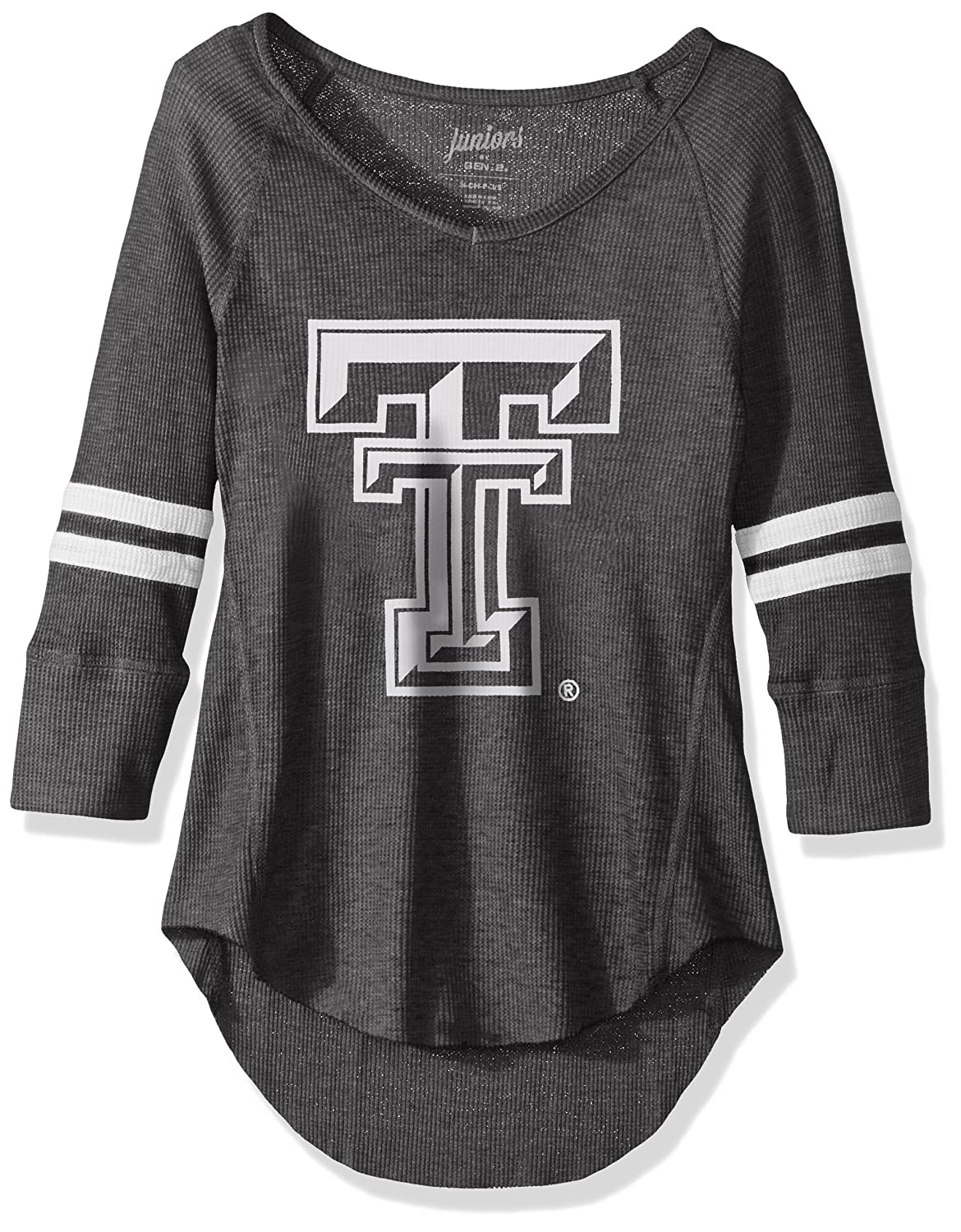 NCAA Texas Tech Red Raiders Juniors Outerstuff Relaxed 3//4 Raglan Thermal Top Team Color 0-1 X-Small