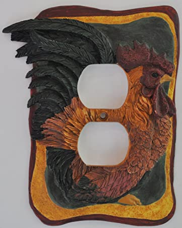 French Country Rooster Kitchen Decor Electrical Outlet Plate Cover
