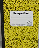 Norcom Composition Notebook Wide Ruled Pack of 2 (Yellow)