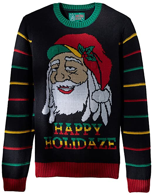 Ugly Christmas Sweater Mens Light Up Happy Holidaze Sweater