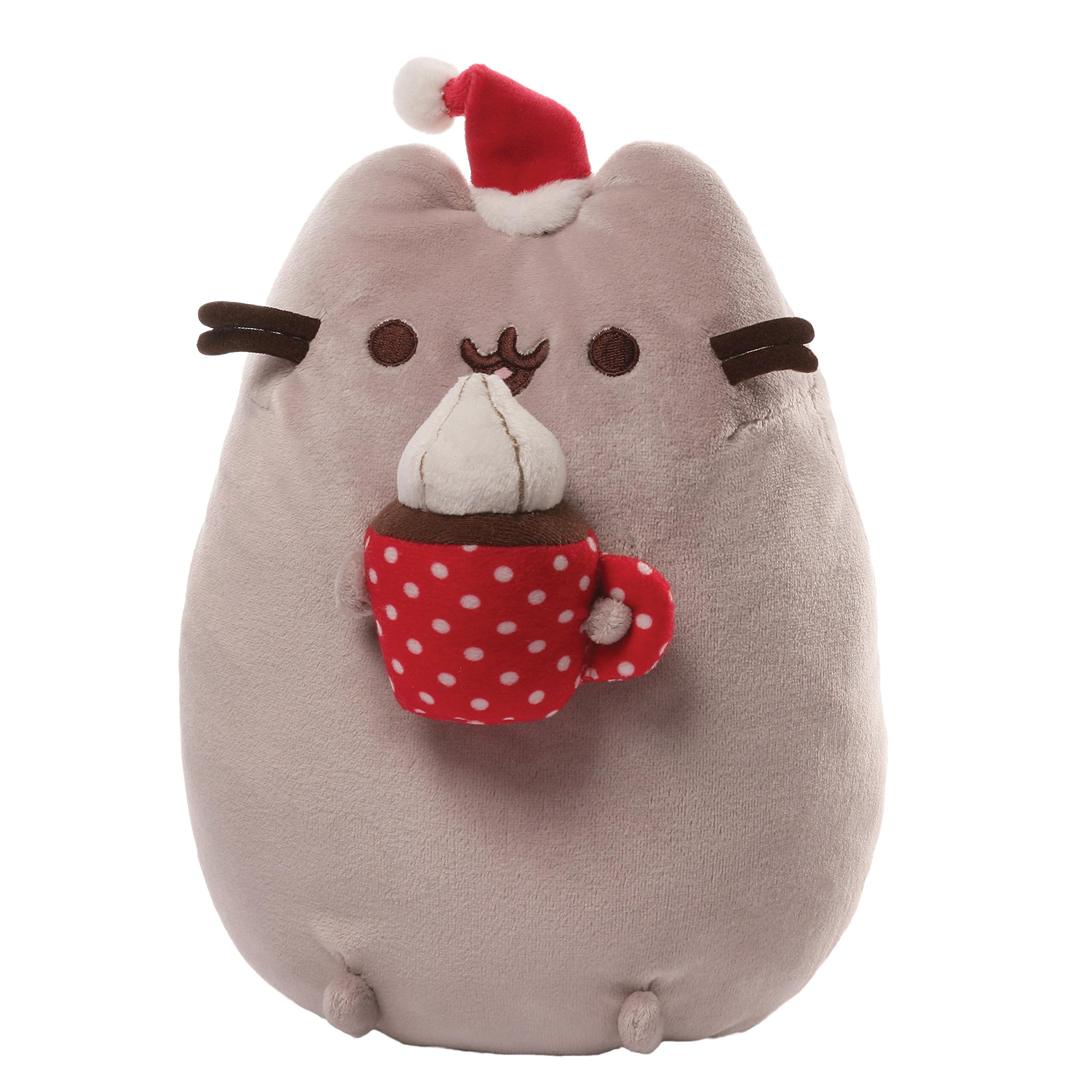 GUND Pusheen Snackable Hot Cocoa Christmas Holiday Stuffed Animal Cat Plush, 10'' by GUND