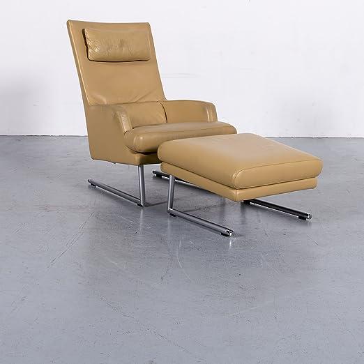 Amazonde Rolf Benz Designer Leder Sessel Hocker Garnitur Gelb