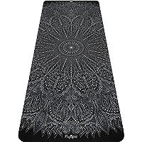 Plyopic Tryckt yogamatta | miljövänlig, halkfri träningsmatta med bärrem. 6 mm tjock. Idealisk för yoga, pilates…