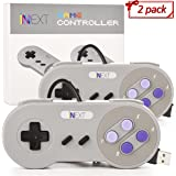 iNNEXT SNES Retro USB Super Nintendo Controller Gamepad Joystick, USB PC Super Classic Controller Joypad Gamestick for Windows PC MAC Linux Android Raspberry Pi 3 Steam Sega Genesis Higan (2 Pack)