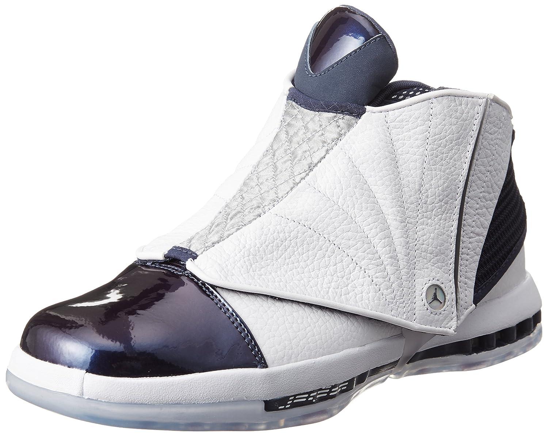 e6f46547aff Amazon.com | NIKE Mens Air Jordan 16 Retro White/Midnight Navy Leather Size  11 | Basketball