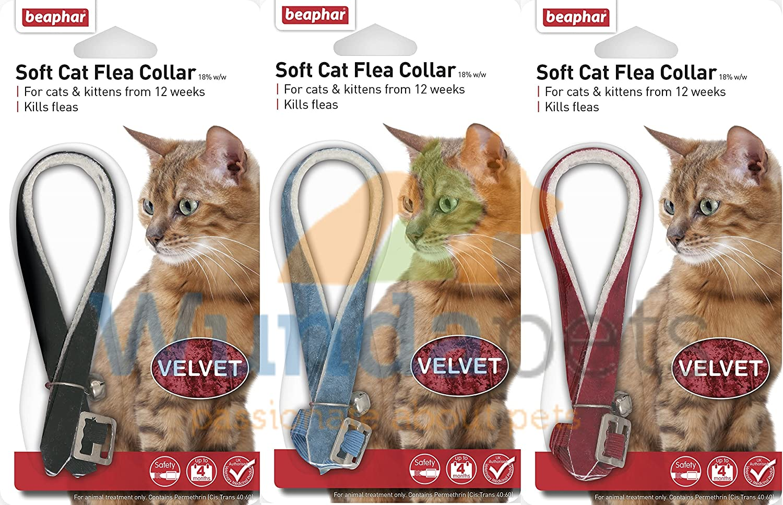Beaphar Velvet Cat Kitten Flea Treatment Collar With Bell 3 Pack Up To 1 Years Protection Amazon Co Uk Kitchen Home