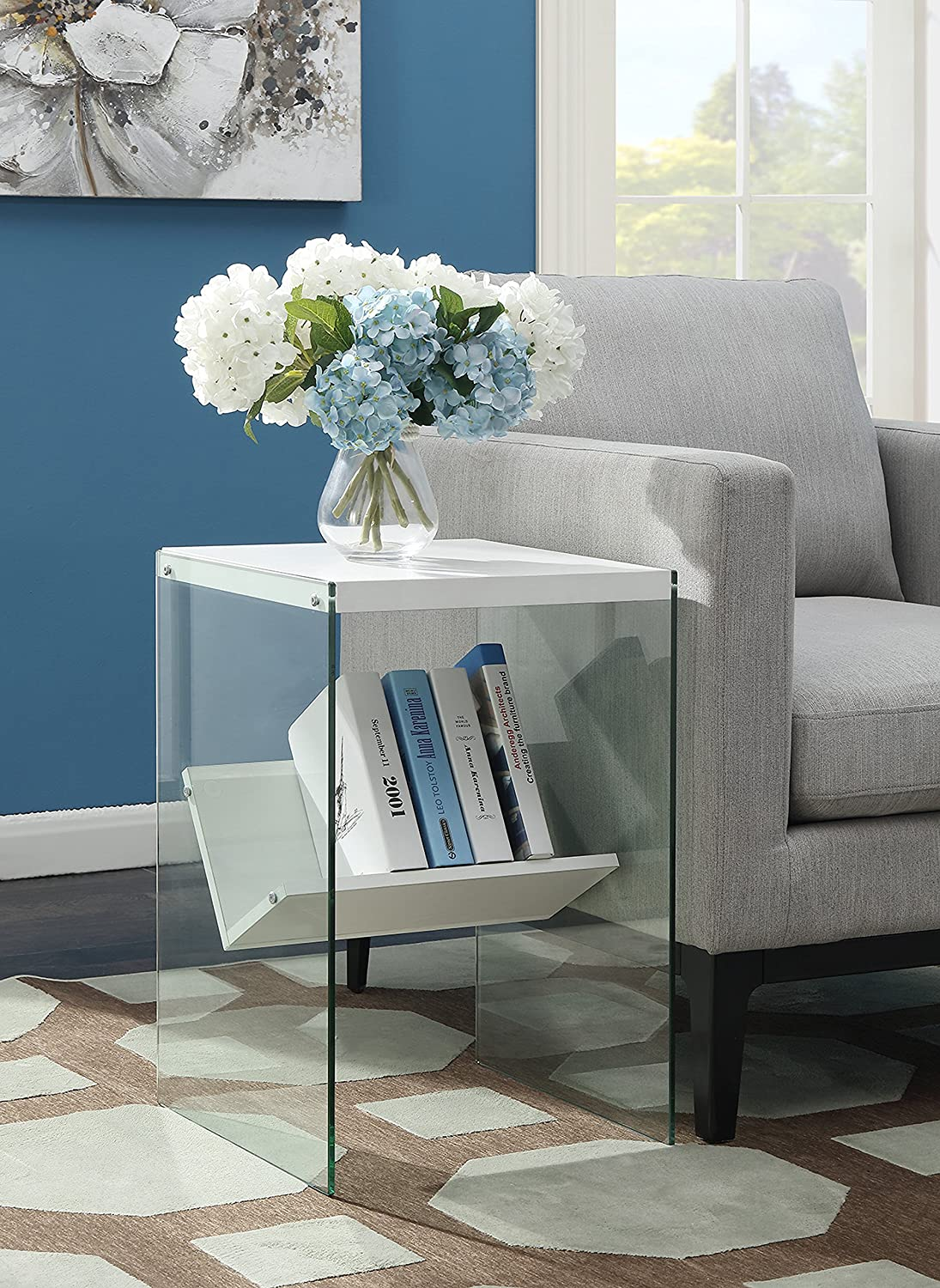 Convenience Concepts 131556W Soho End Table, White
