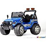 4X4 électrique pour enfant Jeep Bleu, 12 volts - 7Ah, 2 Moteurs