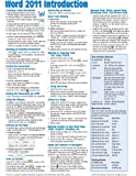 Word 2011 for Mac: Introduction Quick Reference Guide (Cheat Sheet of Instructions, Tips & Shortcuts - Laminated Card)