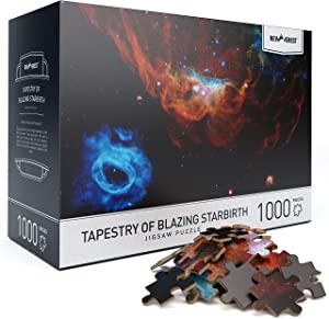 "Newverest Jigsaw Puzzles 1000 Piece for Adults, Educational Difficult Puzzle with Unique Image by The Hubble Telescope 27.5"" x 19.7"", Include Gift Package Storage Box - Tapestry of Blazing Starbirth"