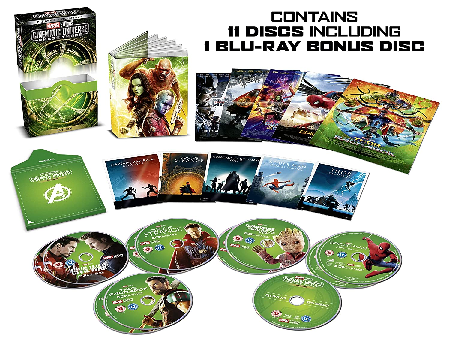 Marvel Cinematic Universe Phase 3.1 Italia Blu-ray: Amazon.es: Cine y Series TV