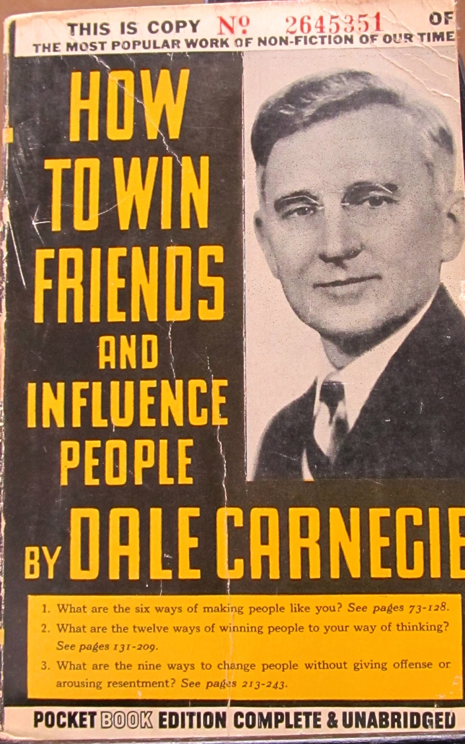 how to win friends and influence people Mass Market Paperback – 1943