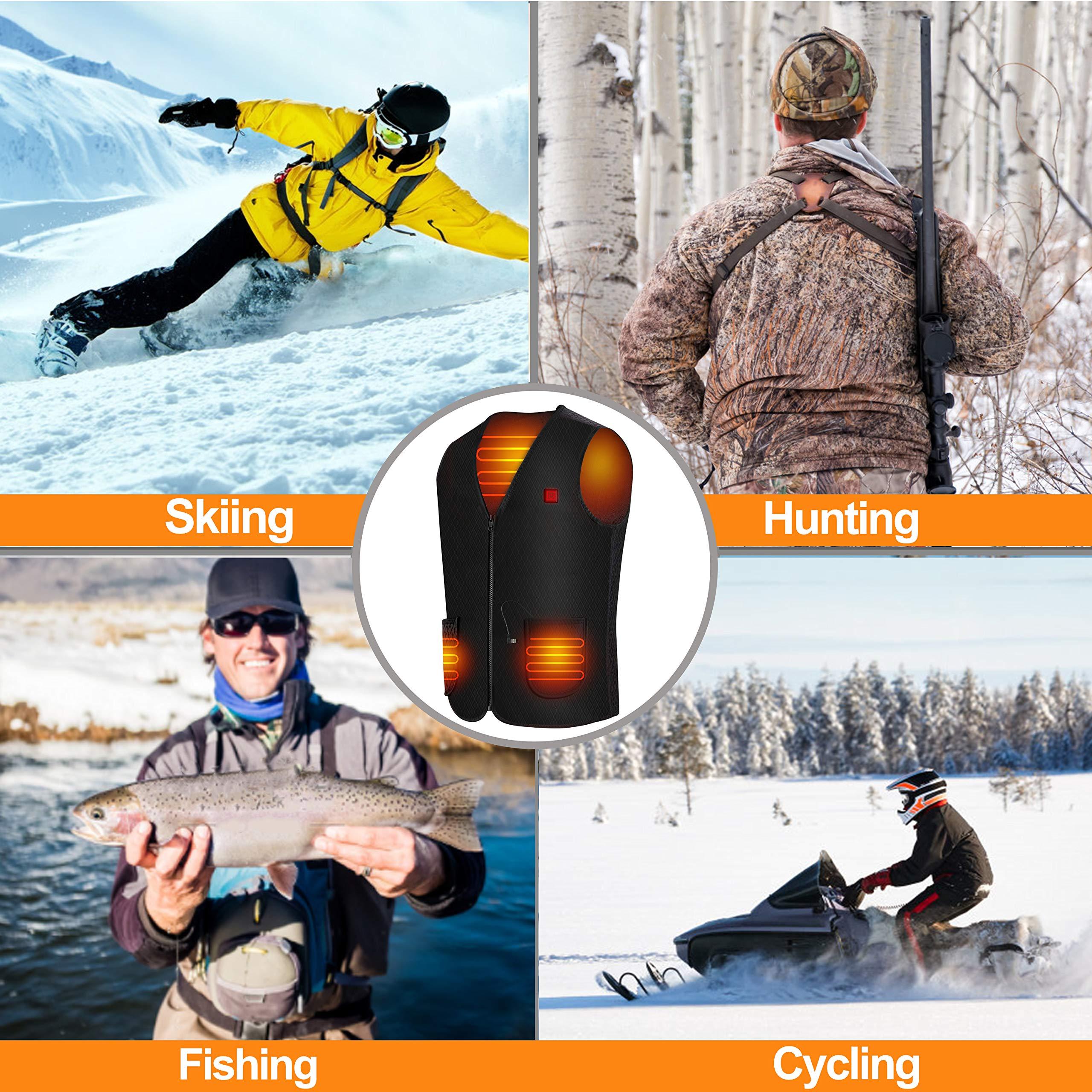 Begleri Heated Vest for Men Women - Electric USB Heating Vest, Heated Motorcycle Vest for Winter Sports