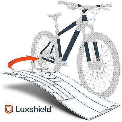 sale retailer uk store release date Luxshield Film de Protection Cadre du vélo pour vélo de Route, vélo  électrique, VTT, BMX, etc. - Pack de 21 pièces Contre des éclats de Pierres  - ...