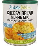 Diabetic Kitchen Cheesy Bread Muffin Mix Puts Bread Back On Your Menu ● Non-GMO, Sugar-Free, Gluten-Free, High-Fiber, Keto-Friendly, Low-Carb