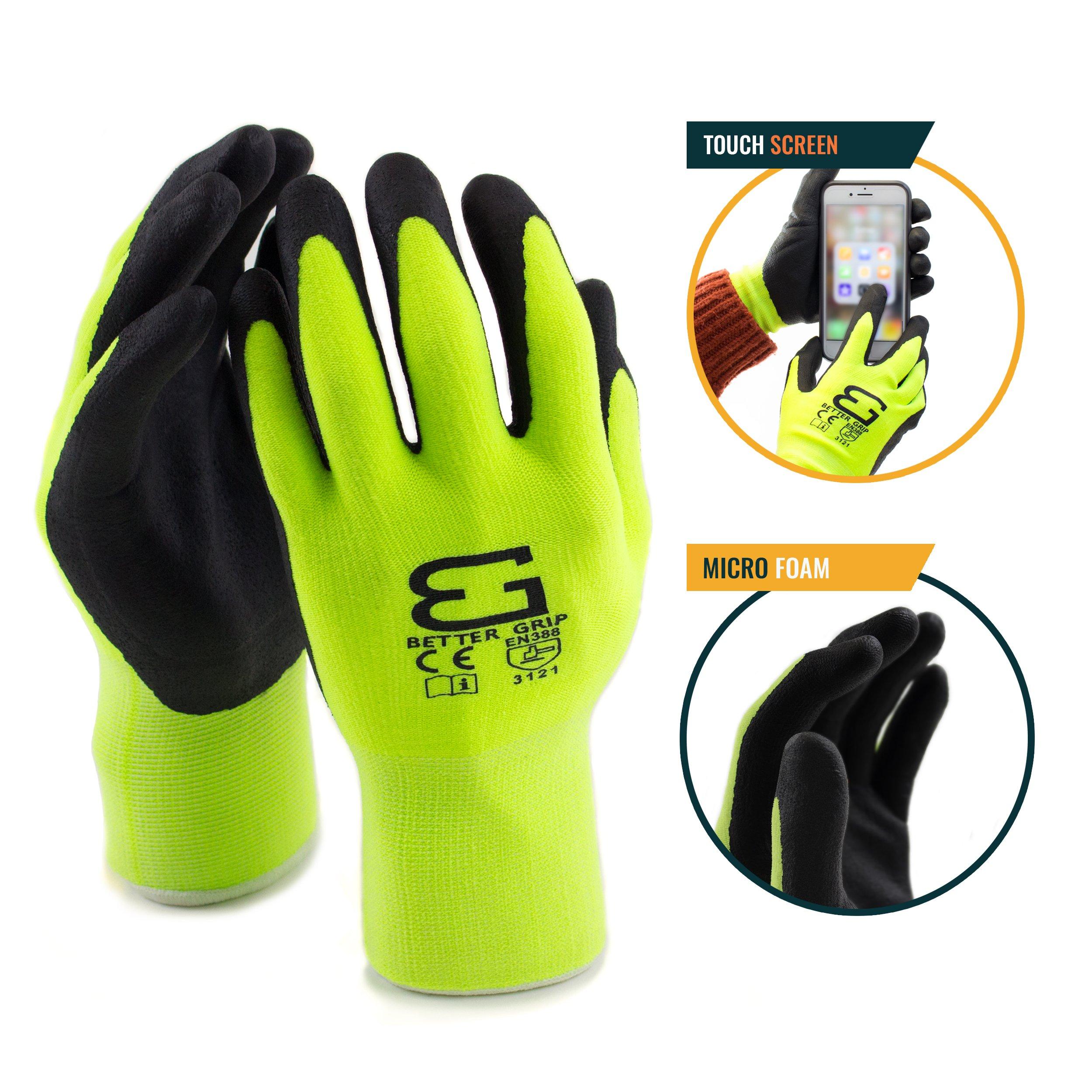 Spidergard SPL-RR50 50 Foot Wire Rope Self-Retracting Lifeline with Swivel Hook and Carabiner w/ Micro Foam Work Glove by Spidergard (Image #8)
