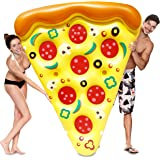 JOYIN Giant Inflatable Pizza Slice Pool Float, Fun Pool Floaties, Swim Party Toy, Summer Pool Raft (1 Pack), Extra Large with Cup Holders