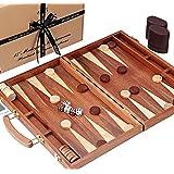 Jaques of London Juego de Backgammon - 15 Pulgadas - Caoba