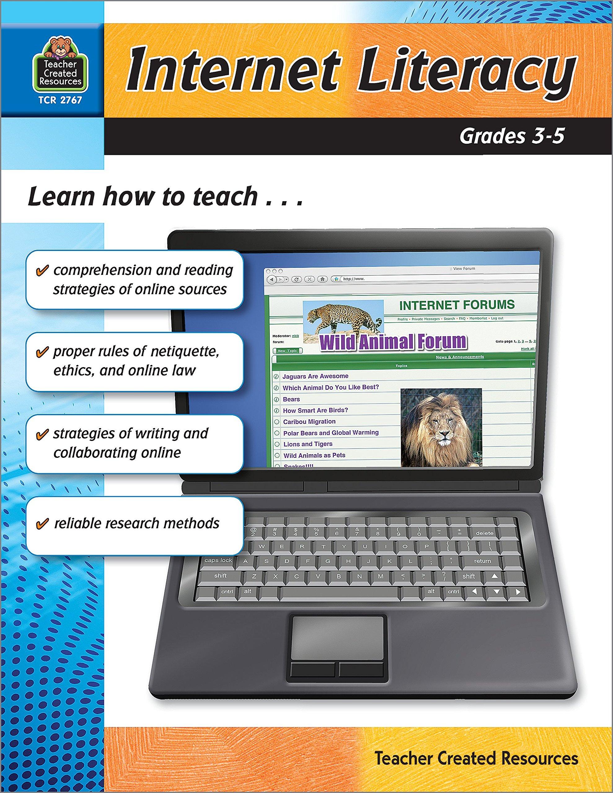 Download Internet Literacy Grd 3-5 pdf