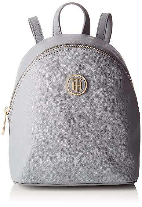 Tommy Hilfiger - Honey Micro Backpack Crossover, Bolsos mochila Mujer, Gris (Sharkskin)