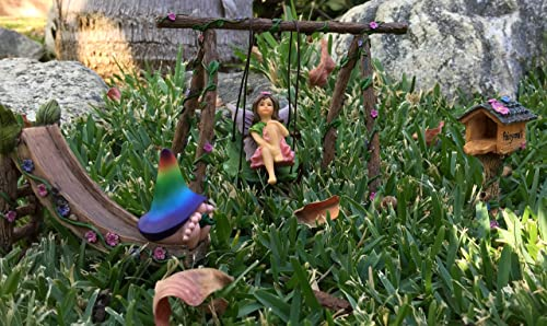 GlitZGlam Miniature Fairy Mailbox for The Enchanted Garden – A Fairy Garden Accessory