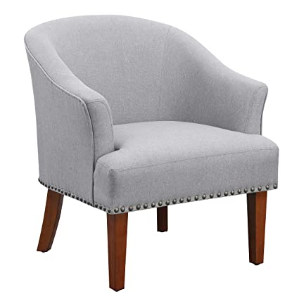 Admirable Ravenna Home Ryleigh Rounded Mid Century Barrel Accent Chair 27 5W Grey Uwap Interior Chair Design Uwaporg