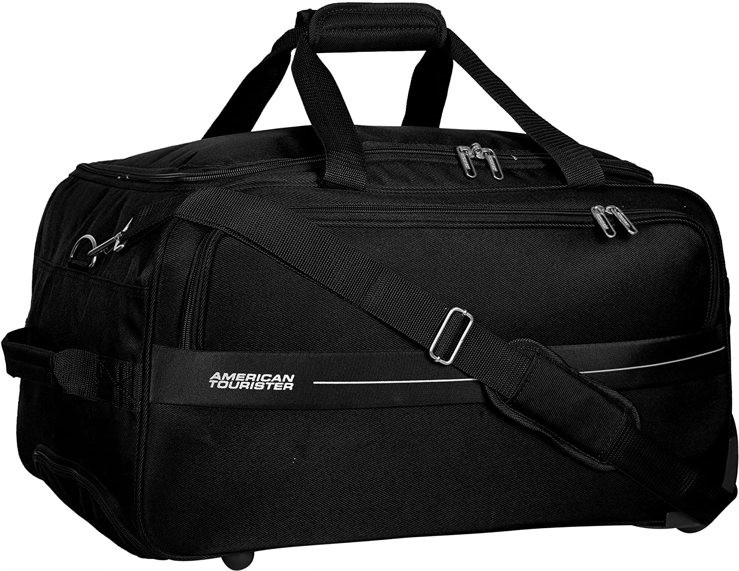American Tourister Marco Polyester 54 cms Black Travel Duffle (93O (0) 09 001)