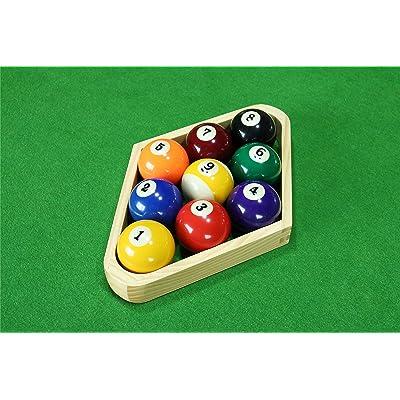 Betterline Billiard Balls Set Pool Table Triangle Ball Rack And 9-Ball Diamond