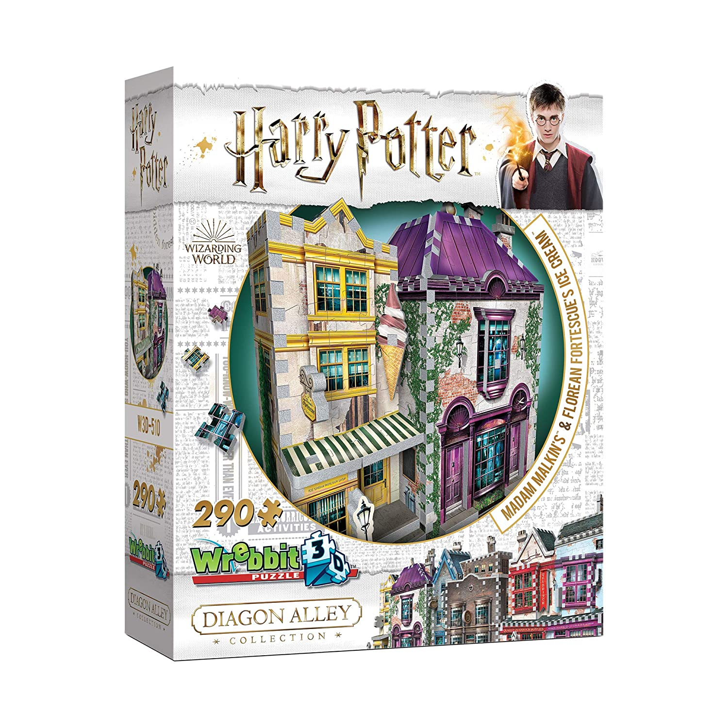 Wrebbit 3D - Harry Potter Diagon Alley - Madam Malkin's & Florean Fortescue's Ice Cream