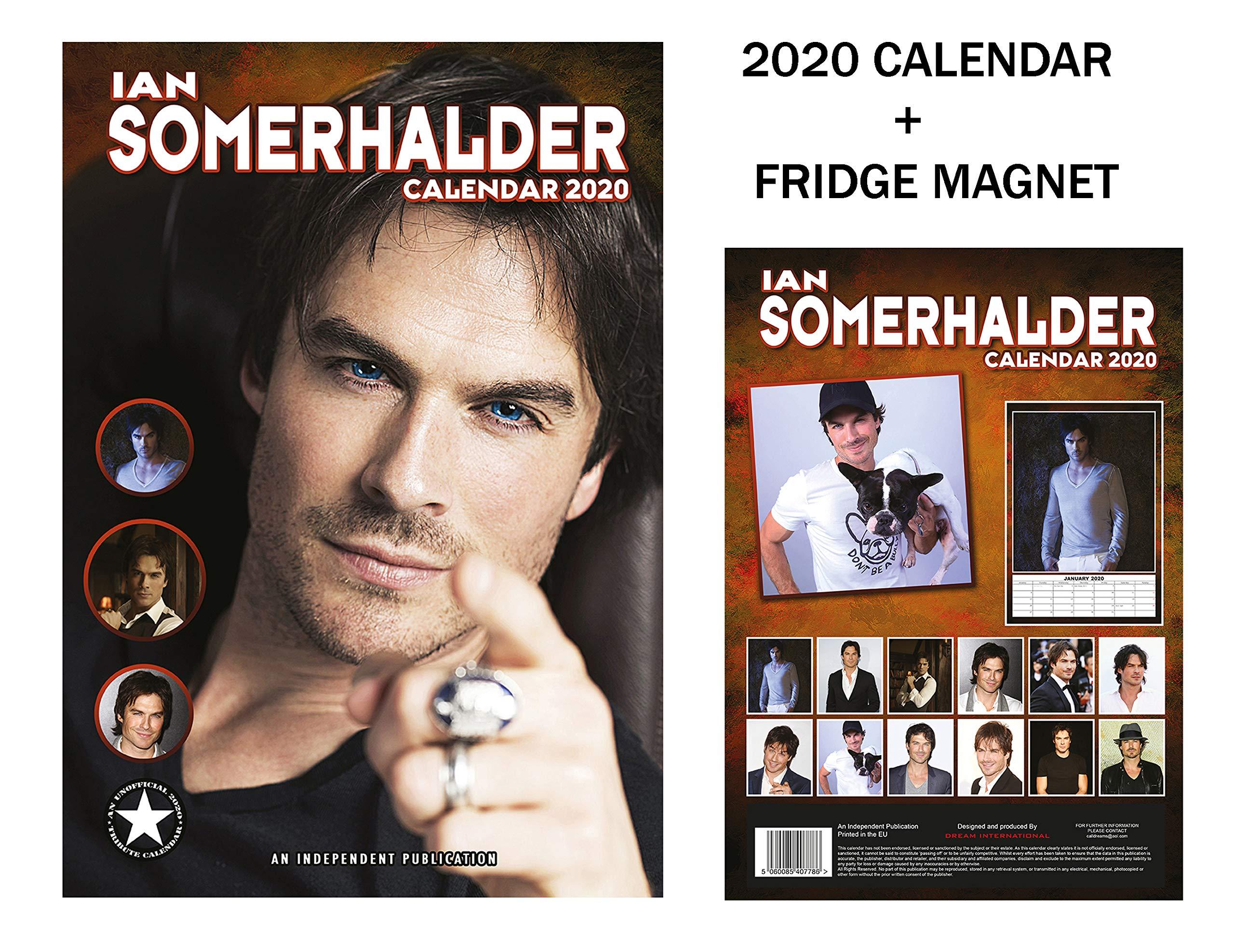 Ian Somerhalder Fridge Magnet Ian Somerhalder Calendar 2021 A3