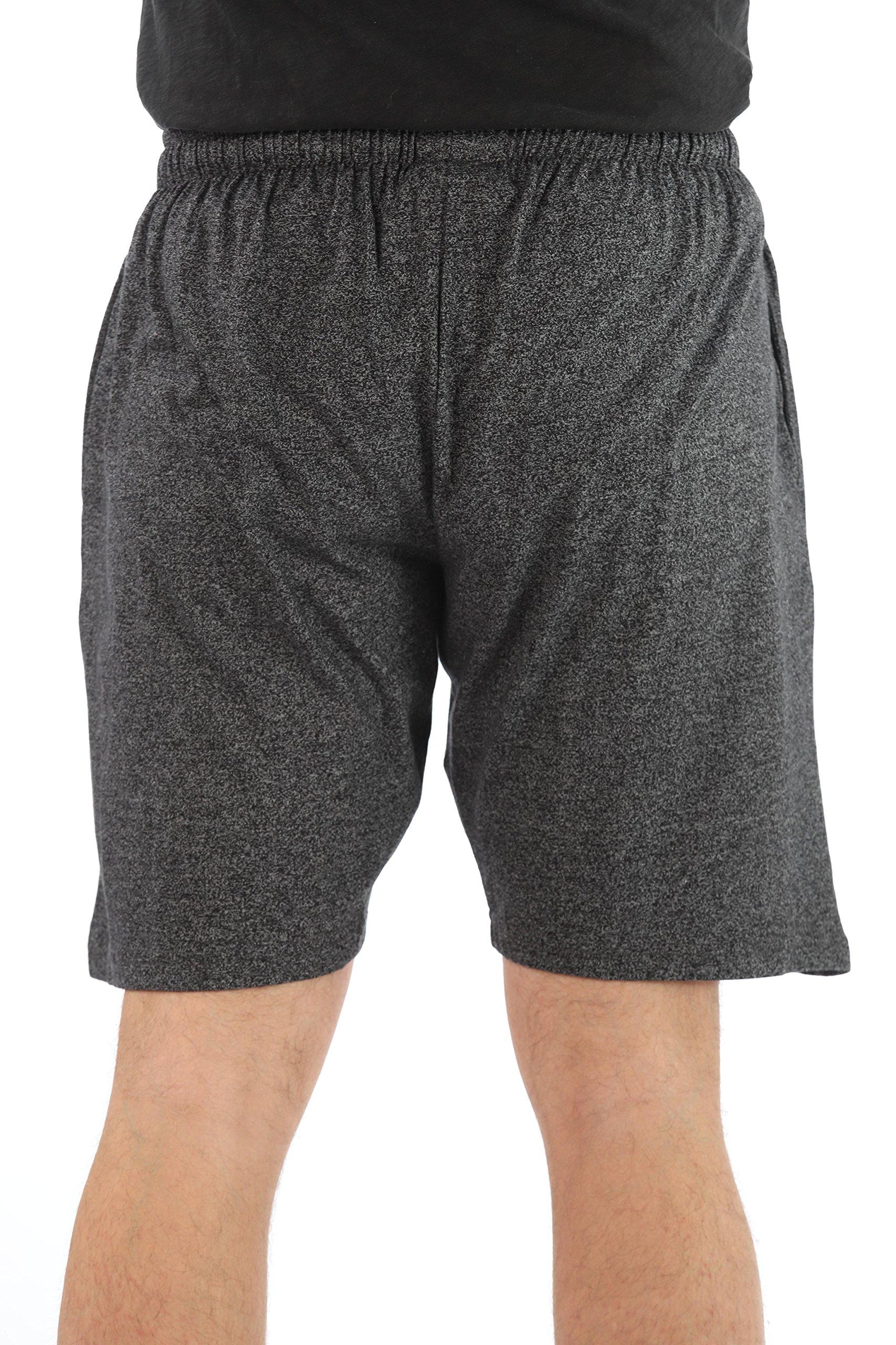 At The Buzzer Men's Pajama Shorts Sleepwear PJS 14504-BLK-L by At The Buzzer (Image #3)