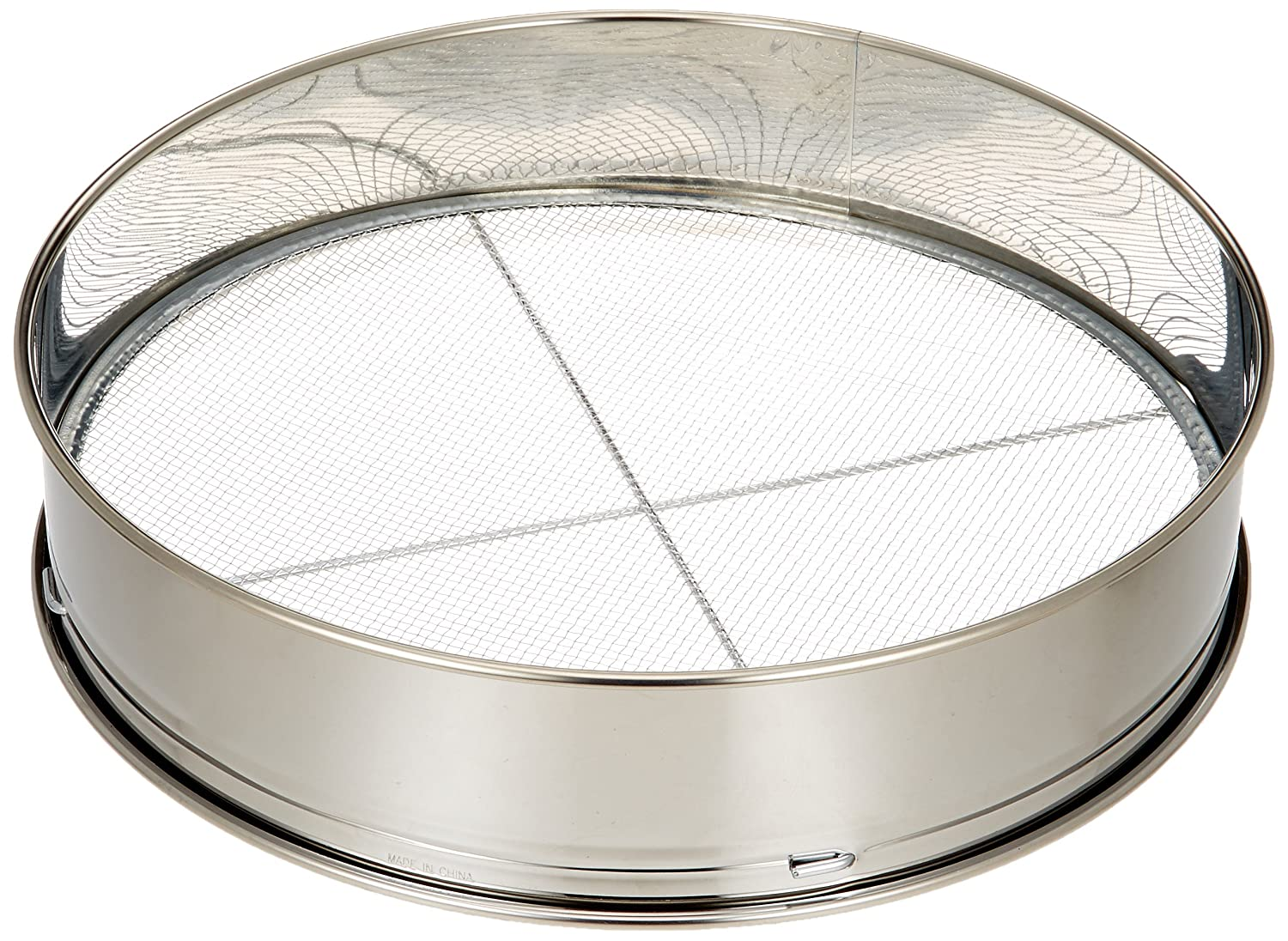Safe-Deposit 3 stainless soil sieve 12inch for Bonsai (japan import)