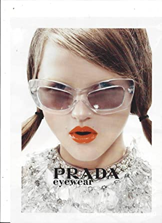 3c531e8aa7c7 Image Unavailable. Image not available for. Color  PRINT AD With Rasa  Zukauskaite For 2010 Prada Sunglasses