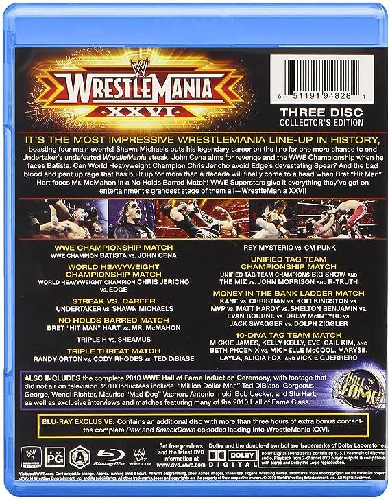 Wwe Wrestlemania 26 Blu Ray Amazon Fr Dvd Blu Ray