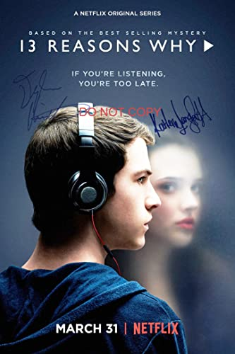 13 Reasons Why Katherine Langford Dylan Minnette 12x18