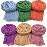 Axe Sickle 6PCS Scarf Wrap Shawl Cotton Hemp Soft Outdoor Beach for All Season Wrap Women Wrap Shawl Sunscreen Stylish…