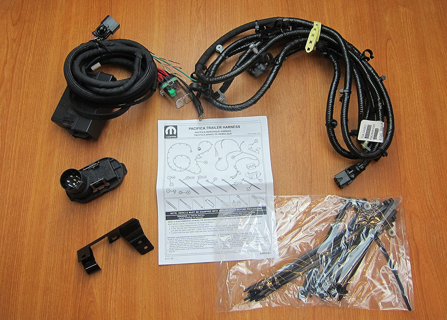 amazon com: chrysler pacifica trailer tow hitch wiring harness kit mopar  oem 82214522ab: automotive