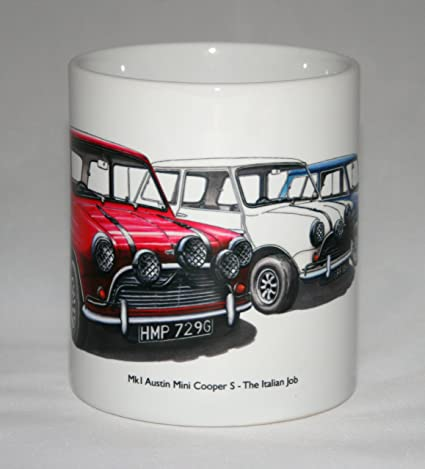 Classic Car Mug Mk1 Austin Mini Cooper S The Italian Job