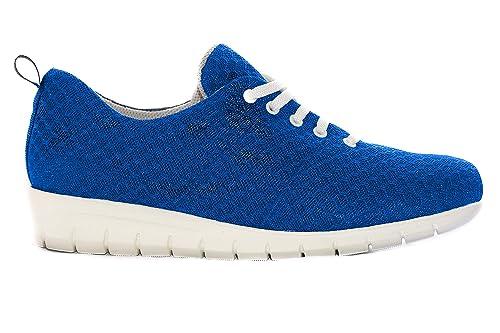 Zapatillas cómodas Mujer Marca Oneflex - Calzado de Confort, liviano y Antideslizante- Forro Coolmax- Color Azul: Amazon.es: Zapatos y complementos