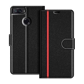 COODIO Funda Xiaomi Mi 8 Lite con Tapa, Funda Movil Xiaomi Mi 8 Lite, Funda Libro Xiaomi Mi 8 Lite Carcasa Magnético Funda para Xiaomi Mi 8 Lite, ...